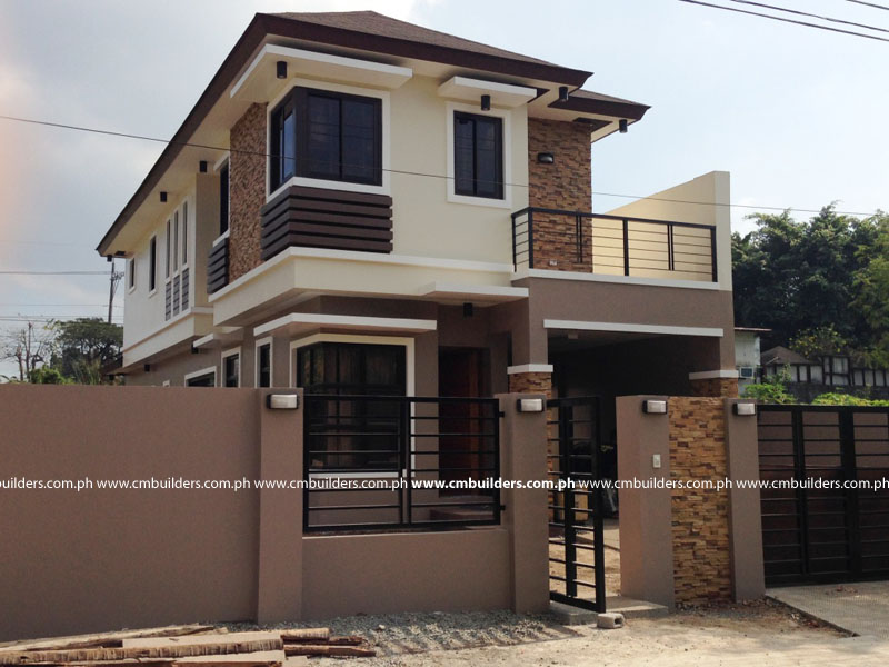2 storey modern zen design north fairview cm builders for Two storey house design philippines