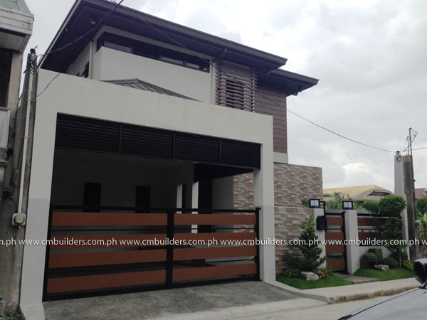 2 storey modern zen design cm builders for Modern zen house design manila