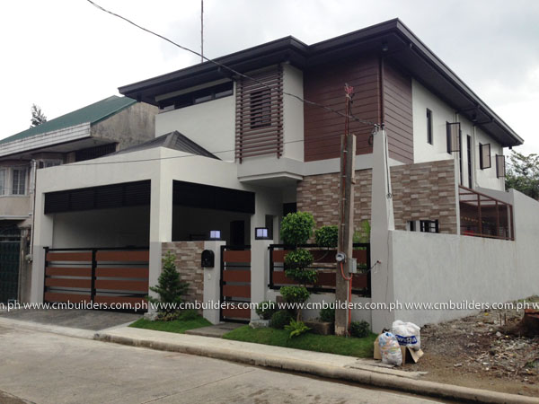 2 storey modern zen design muntinlupa city cm builders for Modern zen house designs