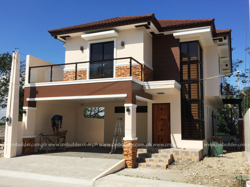 Modern zen 2 storey residence w attic muntinlupa city for House garage design philippines