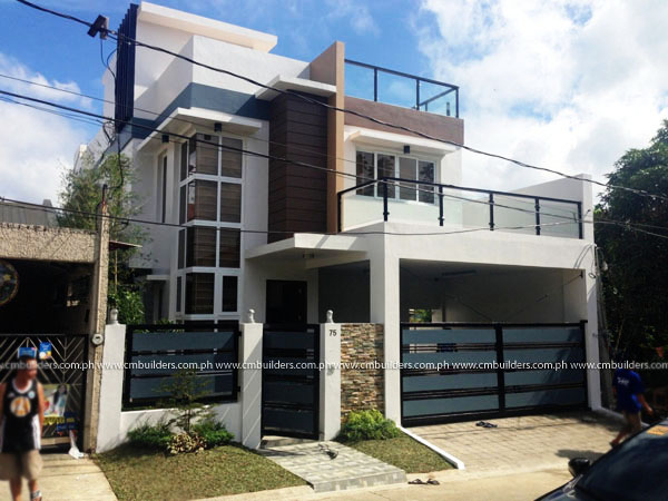 Modern 2 storey residence w roofdeck fairview quezon for Modern house quezon city