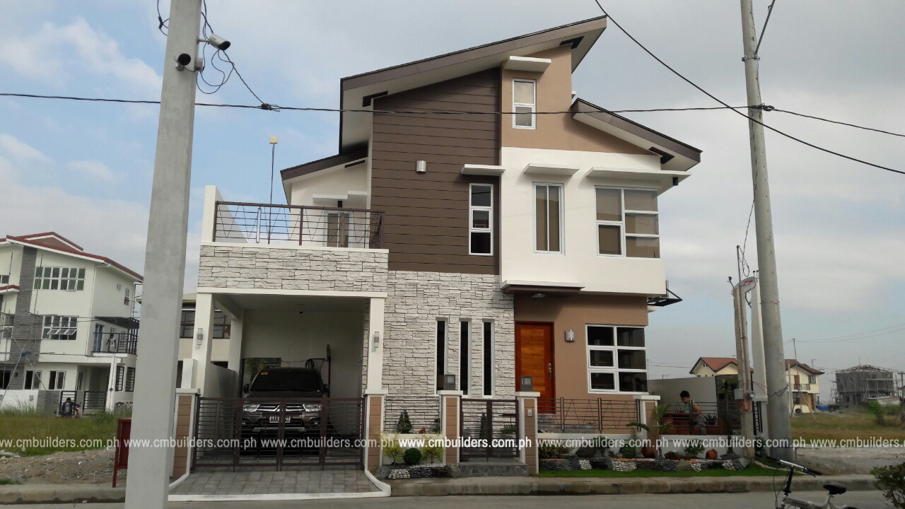 Modern zen 2 storey residence w attic cm builders for Modern zen house philippines