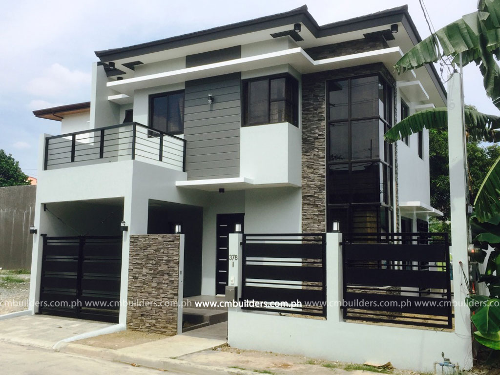 Modern zen 2 storey residence vermont royale antipolo for Exterior design of 2 storey house